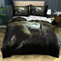 Bedding Sets 3D White Set Custom Design Animal Duvet Cover Wolf Bed Linen Pillow Sham 203*230cm Full Twin Double Single Size