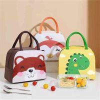 Miúdos Bag Dos Desenhos Animados Handbags Lunch Caixas Mini Bolsa Bolsas Animais Padrão Padrão Térmica Isolamento Design Bento Bag Meninas Bolsa Crianças G79SD3C