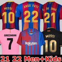 21 22 Barcelona soccer jersey 2021 2022 MESSI ANSU FATI camiseta futbol Barca GRIEZMANN DE JONG Maillots thailand football shirt 4th