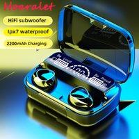 Outlet di fabbrica M10 Plus TWS Bluetooth 5.1 Auricolari Power Bank Carica Cabina di ricarica Cuffia wireless 9D Sport stereo Auricolari impermeabili Cuffie con microfono