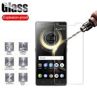 Verre trempé pour Lenovo K8 Remarque PLUS K11 K9 Screen Protector A5 A5S A6 Film Clear Fill Pellical Pell Phone Protecteurs