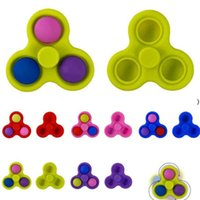 Fidget Toy Sensory Toys Pop It Push Bubble Fingertip Poo Its Kids Decompression Silicone Finger Top Anti Stress Relief 5color NHA5368