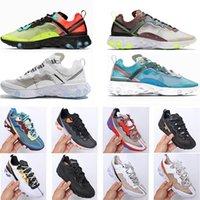 Element 87 55 Running shoes for men women Light Summer Breathable triple black royal Solar Team mens trainers sports sneaker runner Eur 36-45