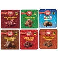 Leere essbare Choclate-Fudge-Brownies-Paket Mylar-Taschen für Schokoladen-Edibles-Verpackungen Süßigkeiten-Tasche Geruchssicherer Reißverschluss Canna Butter-Gummies wiederverschließbare Pakete