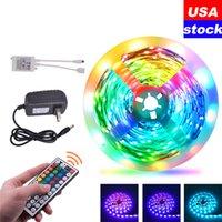 Estados Unidos 16.4ft 32.8ft, tiras LED, RGB 5050 Strip Lights, 150led 300LEDS, 44Key Remote Control
