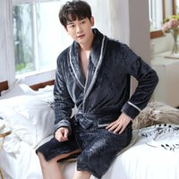 Winter pijama casal sleepwear banho de banho homens mulheres flanela bathrobe coral velo pijama pijama hombre noite vestido noiva 1470 v2