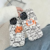 Iphone 12 Pro Max Phone Cases Cartoon Cat For iphone11 promax X XS 7 8Plus Luggage Style Leather Screen Back Cover Protective Case XR