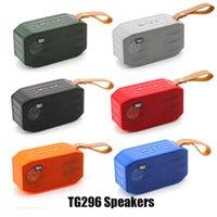 TG296 Bluetooth Kablosuz Hoparlörler Subwoofers Handsfree Çağrı Profil Stereo Bas Desteği Hi-Fi Yüksek Loud Mini Taşınabilir Hoparlör DHL'de TF USB Kart AUX Hattı