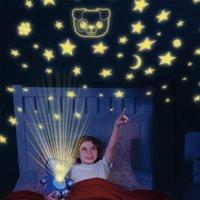 Фаршированное животное с легким проектором в животе Утешительная игрушка плюшевая игрушка ночь светлый щенок звезды животно-мечта Lites Lites Рождество