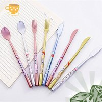 Ballpoint Pens 1 2 4 8 12 24 Pcs Spoon Knife Fork Tableware Shaped Pen , Student Writing Office Stationery Wedding Gift