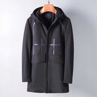 2021 giacca da uomo primavera e autunno lungo business windbreaker cerniera super impermeabile jacke cappotto esterno europeo uomini M-3XL