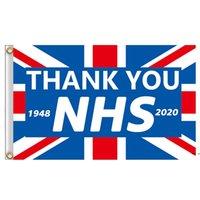 90x150cm Helle Farbe danke NHS-Flaggen-Flaggen Banner für Gesundheitsschwester Doktor Flaggen Regenbogen Dankbarkeit Herz Dekoration Wandflagge DHD5635