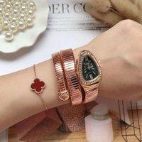 Bracelete criativo da cobra da menina do relógio da senhora personalizada quartzo para mulheres
