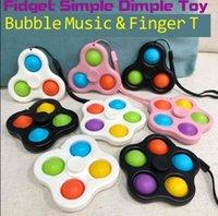 Com cordão Fidget Simple Dimple Brinquedos Bubble Key Ring Push Spinner Board Stress Relevo Decompression Finger Bolhas