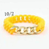 Bracelets Simple Cuban Chain Titanium Steel Silicone Twist Energy Bracelet 11 Colors for Women Girls Men Jewelry