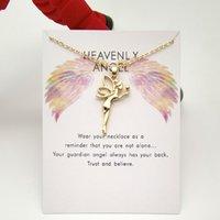 Angel Fairy Little Girl Anhänger Collarbone Schlange Knochen Kurze Halskette