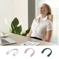2021 Mini Neck Fan Portable Bladeless Fans Rechargeable Leafless Hanging Air Cooler Cooling Wearable Neckband