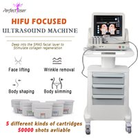 5 cartridge 50000 Shots Ultrasound Hifu 2021 Korean Professional face body Smas Lifting Anti-wrinkle removal Machine