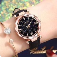 Designer Luxus Marke Uhren Mode Männer Frauen Sterne Little Point Frosted Quarz Lederband Analog Handgelenk Montre Femme