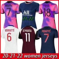 Kadınlar Futbol Forması 2021 2022 Paris Dördüncü Ev Uzakta Mavi Beyaz Verratti Cavani Mbappe 20 21 Bayanlar Futbol Gömlek Di Maria Kız Üniformaları