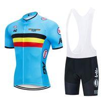 2021 벨기에 사이클링 저지 자전거 반바지 턱받이 세트 Ropa Ciclismo Mens MTB Uniform Summer Pro Bicycling Maillot Bottom Clothing