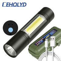 XP-G Q5 Eingebaute Batterie-Taschenlampe Zoom LED-Taschenlampe wasserdicht Stoßfest Hartglühbirne Reiten Campingfischen