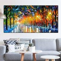 En Light Light Road Pintura al óleo enorme sobre lienzo Decoración para el hogar pintado a mano / HD Imágenes de arte de la pared de la hd-impresión La personalización es aceptable 21052401