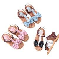 태어난 아기 소녀 신발 샌들 활 매듭 장식 비 슬립 비치 공주 유아 유아 유아 여름 첫 번째 워커 9M-3T 워커