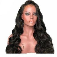 Capelli umani ricci ondulati 360 parrucche frontali in pizzo per donna nero Parte profonda Parrucche anteriore del pizzo con capelli per capelli precipitati parrucca piena del merletto