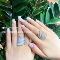 Wedding Rings Bride Talk Sale Multi Layer Paved Full Cubic Zirconia For Women Girls Party & Engagement Jewelry