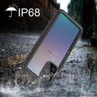 Caso de telefone impermeável para Galaxy S20 Plus Ultra S10 S9 Nota 10 10+ 9 8 Caixas de Células à prova de choque à prova de água