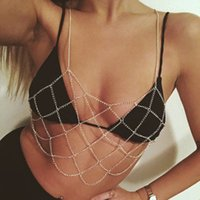 Bikini Body Chain Harness Bohemian Jewelry Sexy Breast Bra Maxi Necklace Women Accessories Bijoux Femme 1117 T2