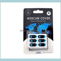 Factory Outlet 3-6 Pcs Webcam Cover Magnetic Shutter Plastic Slider For Phone Web Laptop Pc Tablet Pad Camera Mobile Phone Privacy Eon Loijx