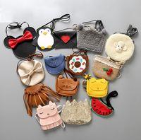 Cute Kids Coin Purse Little Girls Rabbit Messenger Bags Baby Girls Cat Messenger Bags Animal Fashion Decoration Bags Gifts