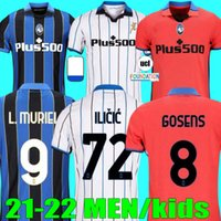 Top Thailand 21 22 22 Atalanta Soccer Jerseys BC Duvan Ilicic L.Muriel Gosens 2021 2022 Romero Mirancihuk Malinovskyo كرة القدم قميص Maglia Men Kids Kit Offe