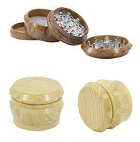 Новейшие деревянные барабанные дробилки Деревянные Matel Herb Marmers 2 типов 40 мм 50 мм 63 мм с 4сложьями табачной толщиной кронштейн для курения 470 R2