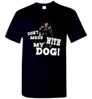 Nie zadzieraj z mojego psa John Wi-Ck -shirt New Fashion Męskie Krótki Rękaw Koszulki Bawełniane Koszule Okrągły Neck Clothes OP Tee [ILDMW44@163.com