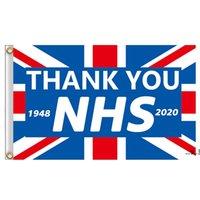90x150cm Helle Farbe danke NHS-Flaggen-Flaggen Banner für Gesundheitsschwester Doktor Flaggen Regenbogen Dankbarkeit Herz Dekoration Wandflagge EWD5635