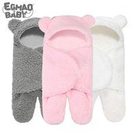 Sleeping Bags Born Wrap Swaddle Baby Cotton Plush Boys Girls Cute Receiving Blanket Bag Sleep Sack (0-6 Month)1