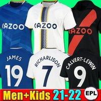 Männer Kinder 21 22 everton Fussball Jersey 2021 2022 everton Fußball Hemd James Allan Doucoure Football Hemd Kean Richarlison Thailand Kits