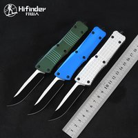 Tactical Combat Knife Automatic EDC Black D2 S E Blade 6061-T6 Aviation aluminum handle outdoor camping fishing hunting auto pocket survival tool straight knives