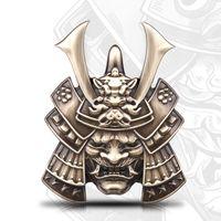Giapponese Oni Samurai Distintivi Skull 3D Metal Modification Tail Standard Off-Road Autoadesivo auto decorativo