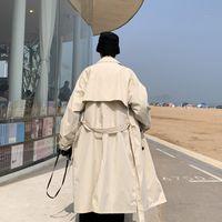 Требовое пальто мужские пальто повседневной тонкой подходит для ветрозащиты плюс размер твердые длинные мужчины мода весенняя куртка Homme красивый