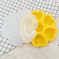 Bandejas de cubo de gelo Barra de suplemento de alimentos de silicone com tampa reutilizável coração em forma de tubos de tubos para bebidas de uísque e cocktails DHD5784