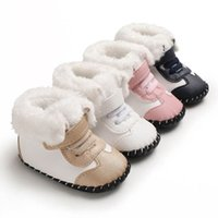 Baby Shoes First Walkers Newborn Shoe Girls Boys Boot Infant Footwear Moccasins Soft Toddler Wear Winter Casual Keep Warm Snow Boots Leather 0-1T B8752