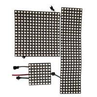 WS2812B RGB 5050 Módulos flexibles SMD 8x8 16x16 8x32 Pantalla de matriz de panel de píxeles WS2812 IC Módulo LED Dirigible individualmente DC5V