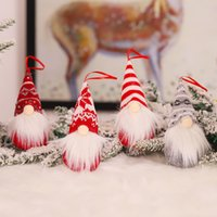 Рождественская кукла безликий Gnome лес пожилая белая борода орнамент игрушка рождественские украшения дерева домашнего декора для детей подарок