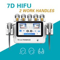 Portable 7D Hifu v max Anti Aging skin tightening device Ultrasound Neck Eye wrinkle removal 7 Cartirdges face lift Arm Leg Waist Abdomen Shaping Beauty machine