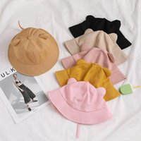 Wide Brim Hats Bucket Hat Women Cartoon Cat Solid Color Dome Fisherman Cap Parent Child Sunshade Leisure Summer For Girls Casual