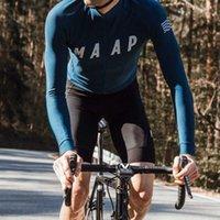 Maap 2021 Spring Summer Men Manga larga Ciclismo Jersey Top Calidad Bicicleta MTB CAMISETA CAMISETA ROPA ROPA DE CICLISMO H1020